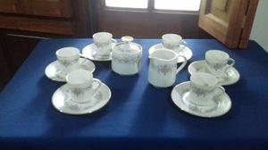 Juego de cafe de porcelana Tsuji