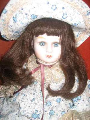 Muñeca De Porcelana Antigua Bellisima...!!!!!!