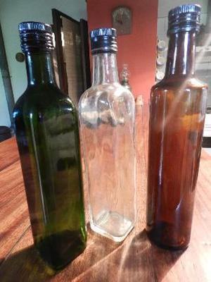 botellas de aceite de vidrio vacias usadas, ideales para