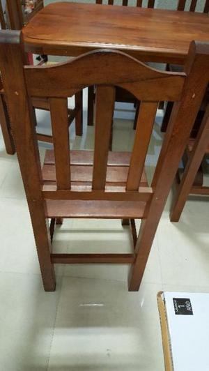 mesa de algarrobo y seis sillas