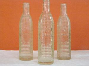 set de botellas antiguas de crush