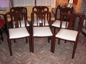 Juego de 6 sillas americanas de comedor