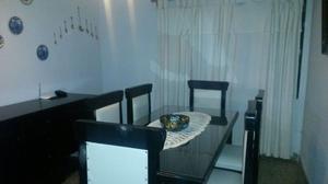Juego de comedor 6 sillas y mesa rectangular c/vidrio