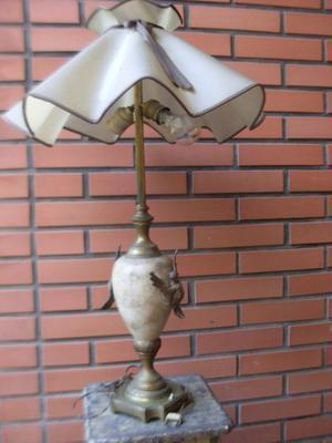 LAMPARA ANTIGUA DE MARMOL Y BRONCE