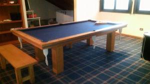 Mesa de poll con tapa de ping pong completas.