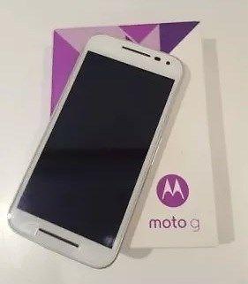 Motorola G3 BLANCO 8 Gb 4g + Vidrio templado + 2 fundas