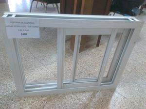Vendo ventana aluminio 2 hojas corredizas 80x60 nueva!