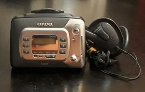 Walkman Aiwa Tx377 Pasacassette + Radio Am/fm Visor Digital