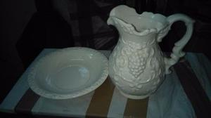 jarra y palangana de ceramica