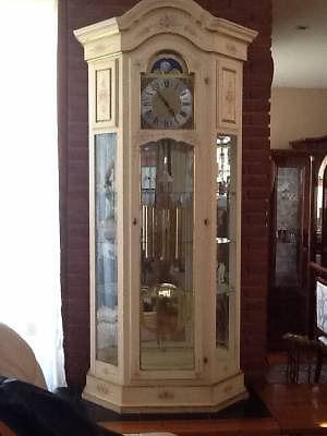 Gran Reloj Aleman Carrillon Cristalero decorado pintado a