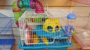 Jaula Para Hamster Con 2 Pisos Y Laberinto