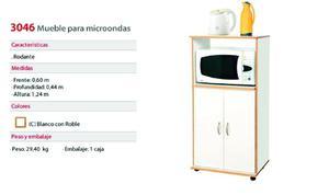 MUEBLE PARA MICROONDAS PLATINUM - MODELO