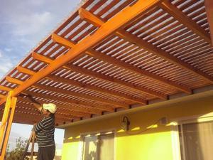Columnas para techos galeria pergolas posot class - Techos para pergolas de madera ...