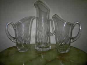 hermosas jarras de cristal