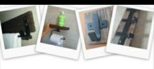 Set Rustico Para Baño, Toallero, Portapapel Hig Y Percheros