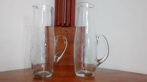 jarras de cristal trabajado