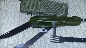 Cuchillo Multiuso Con Estuche Militares
