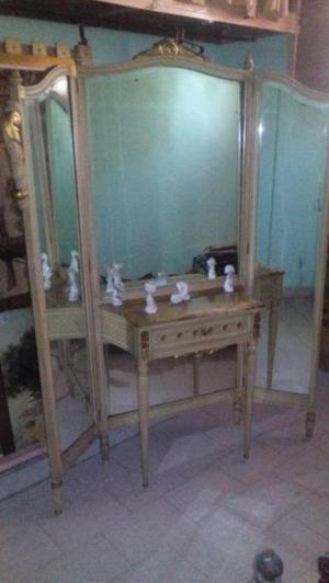 Espejo muy antiguo biselado impecable estado con cajón