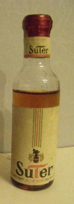 antigua botella miniatura vino fino rosado suter