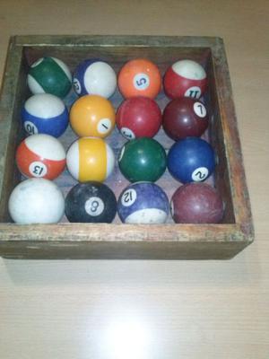 bolas de pool en buen estado, se venden juntas o por unidad