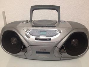 EQUIPO DE MÚSICA. CD, radio y cassette