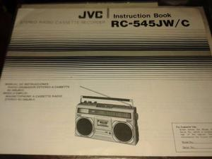 Manual De Usuario Jvc Rc-545jw/c - Instruction Book