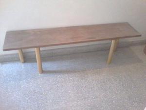 Mesa o banco de madera