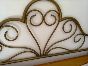 Cabecera de cama 2 pl bronce 1.40 ancho 1,27 alto $
