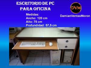 Escritorio de PC para oficina (usado) 120 x 75 x 57.5
