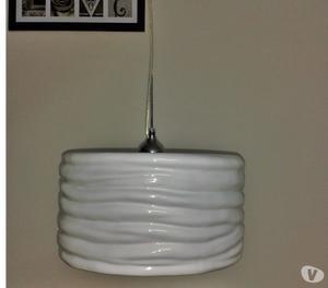Lampara Colgante De Cerámica Color Blanco