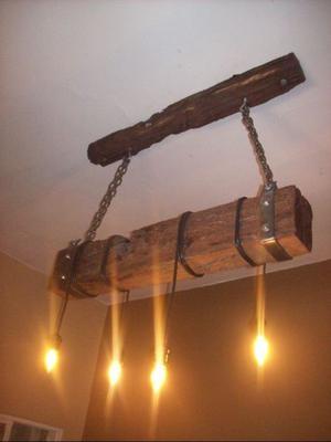 Lamparas rusticas de metal posot class - Lamparas rusticas de madera ...