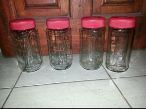 Vendo frascos de vidrio