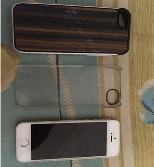 Vendo iphone 5s de 16 gb liberado y usado + dos carcasas