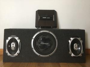 Vendo parlante, caja y potencia para auto