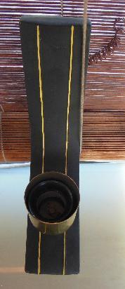 antigua lampara aplique pared ceramica bronce 29x17cm-vcresp