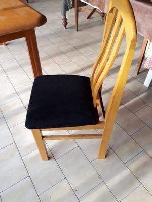 sillas madera tapizadas