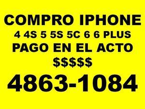 Compro iphones 5S 5c 6 7 pago en el acto -llamar