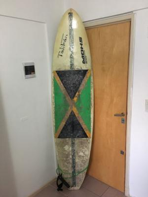 Tabla de surf funboard 7'2'' Talibán-Mohs con funda Harcord