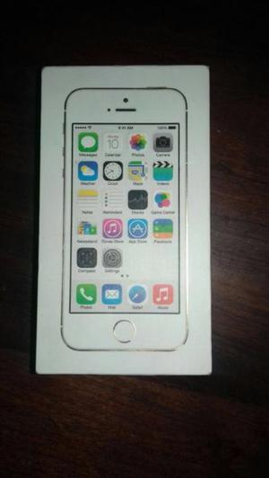 Vendo IPhone 5s gold de 16 gb CON CAJA