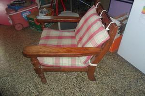 Sillon de madera maciza de 2 avellaneda posot class for Sillon cama un cuerpo