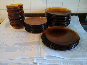 Juego set vajilla vidrio piezas en caja posot class for Vajilla de platos
