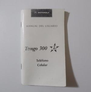 Manual Del Usuario Celular Motorola Tango 300