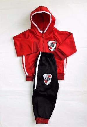 Conjunto Deportivo River Campera Y Pantalon Bebe Futbol Boca