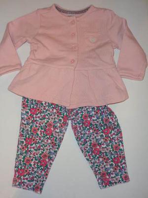 Conjunto Importado Saquito Y Pantalon Nena T.6 Meses Carters