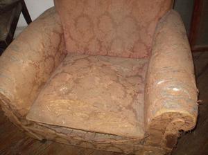 Estructura de sillón antiguo vintage – retro para