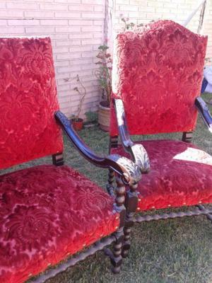 Juego de sillones antiguos de Estilo
