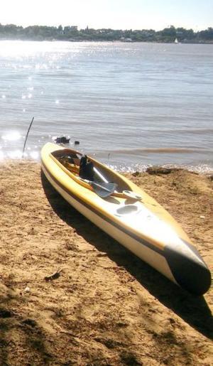 Liquido Kayak doble abierto excelente 2 palas 2 chalecos!!!