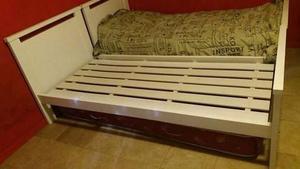 cama de pino laqueado 1 plaza standar