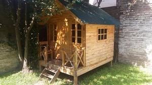 Casa para nenas techo de machimbre y chapa posot class for Vendo casa madera