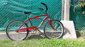 Bicicleta playera roja rodado 24